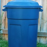 backyard garbage can